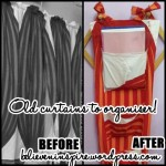 Old Curtains To Organizers- Video Tutorial