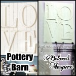 Pottery Barn LOVE Wall Plaque Knock-off Video Tutorial