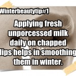Winter Home-made Beauty Tips