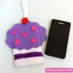 DIY Cup Cake Phone Case Tutorial Video With Free Pattern