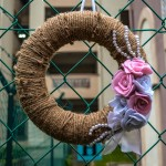 DIY Pearl and Flower Wreath