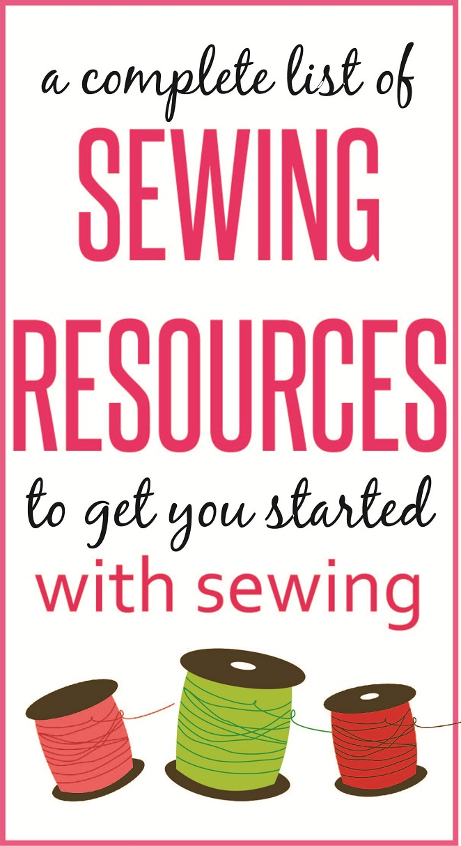 Complete list of sewing resources for beginners on sewsomestuff.com. Want to take up sewing as a new hobby but don't know where to begin? READ THIS POST where I share ALL the sewing resources that a beginner would need to get started with sewing. The list contains links to recommended sewing machines, ONLINE SEWING CLASSES, tips and FREE SEWING PATTERNS. READ NOW!