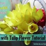 Spring Flower Basket with Tulip Tutorial