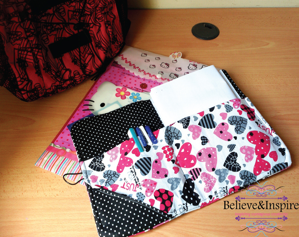 Fabric Organizer Tutorial on believeninspire.com (Beginner sewing project, free sewing pattern) beginners sewing - oragnizer