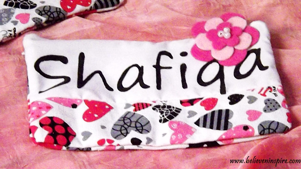 girly hand made pouch