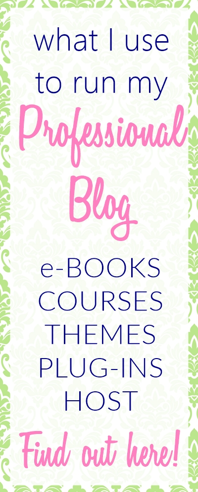 Find out what resources I use to run my professional blog in this post