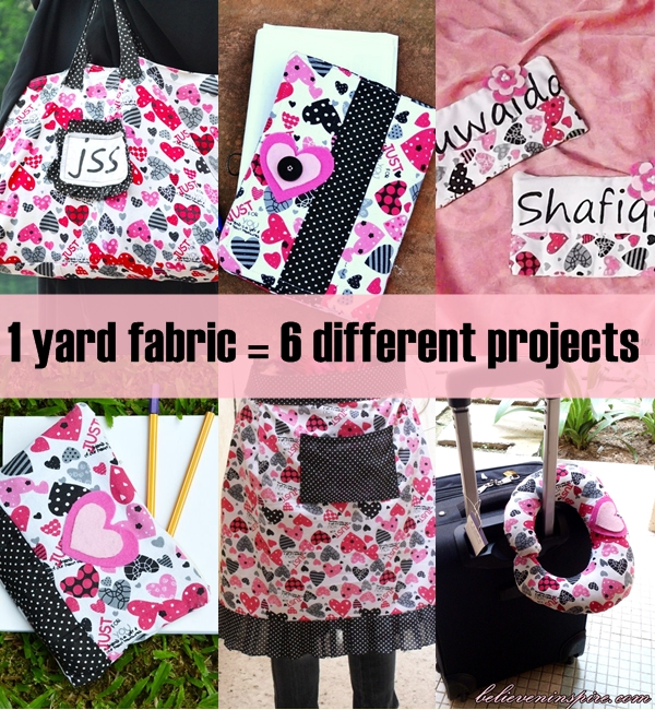 1 Yard Fabric - 6 Different Projects on sewsomestuff.com. What if you just had ONE yard of fabric? Can you imagine all the things you could sew with it? Well, there are a lot of them but in  this  post I have 6 of the things I made from just one gorgeous fabric. Check them all out in this post.