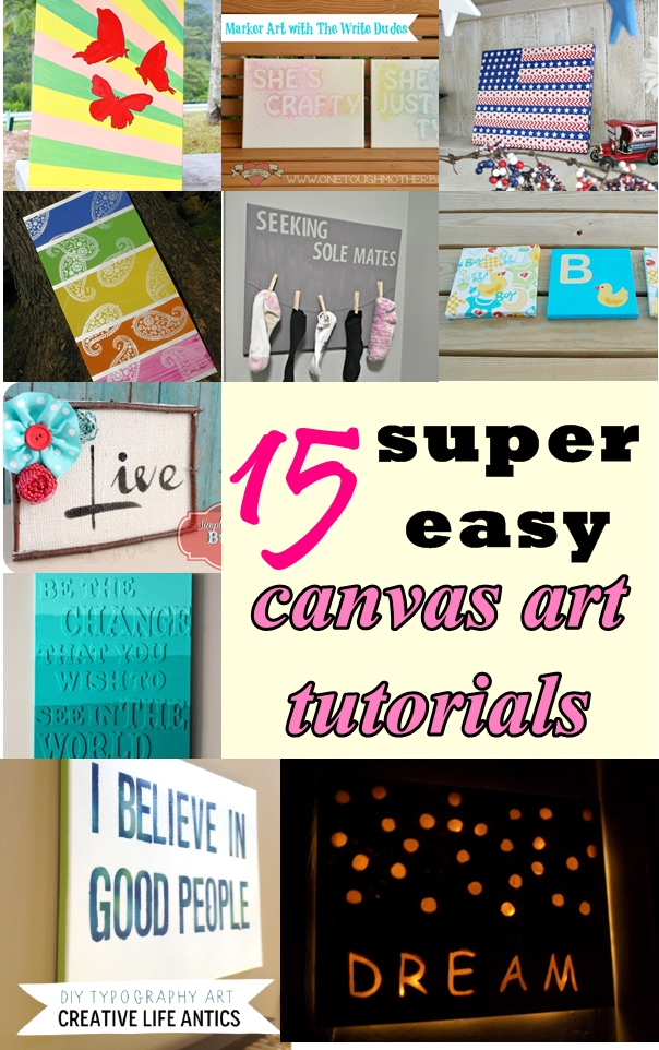 easy canvas art tutorials