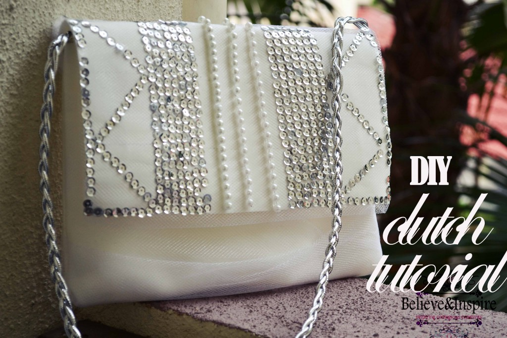 DIY evening clutch / purse tutorial.