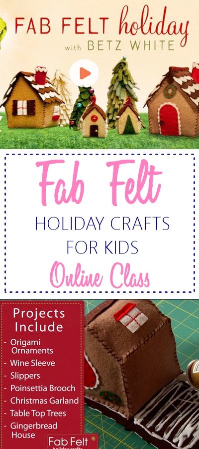 Fab felt holiday craft class for kids. CHECK OUT NOW!