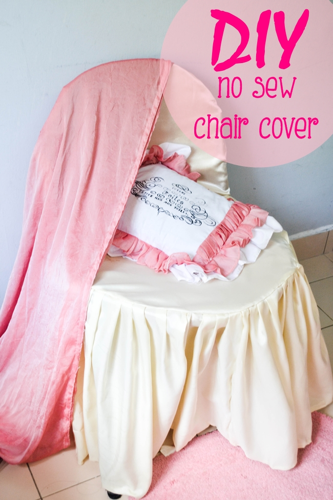 No Sew Banquet Chair Covers Tutorial with FREE Pattern @believeninspire.com