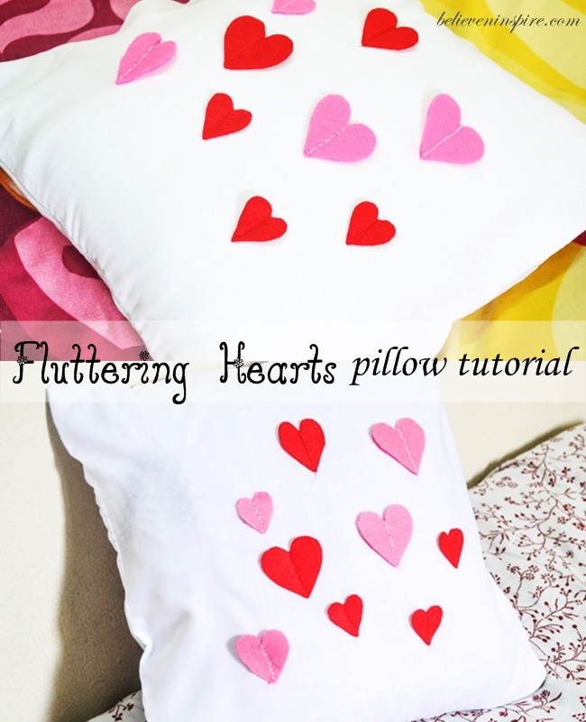 fluttering hearts pillow tutorial