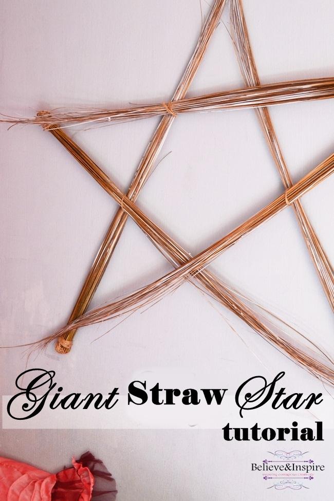 Giant Straw Star Tutorial - Cheap Wall Art
