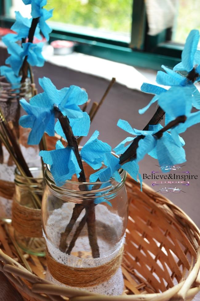 DIY Blue Berry Blossoms (Artificial Flowers)