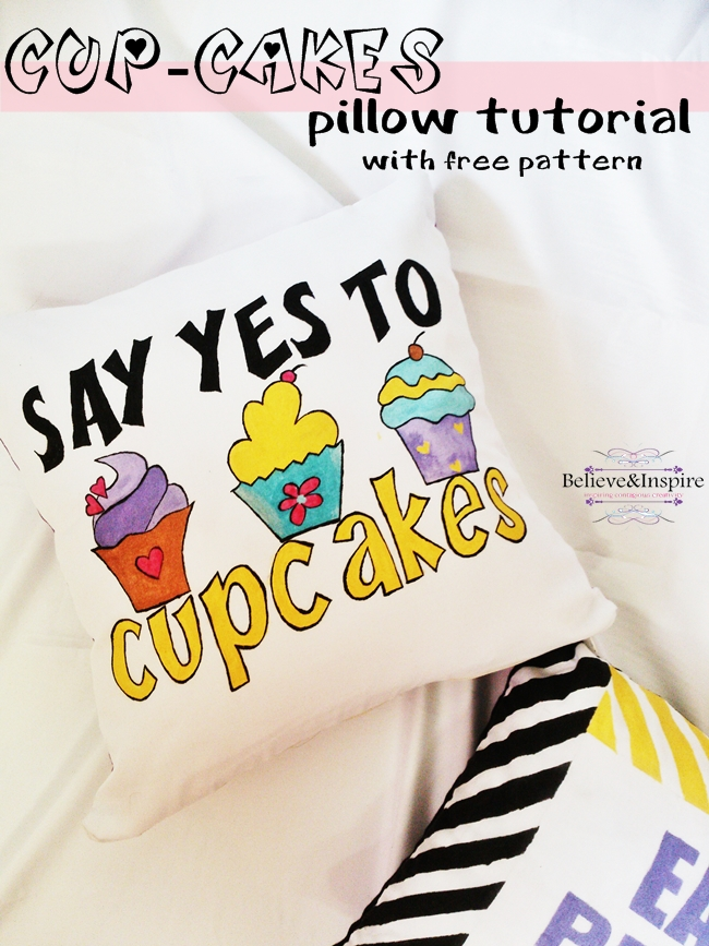 Cup-cake Pillow DIY (Things to sew for kids) with free pattern