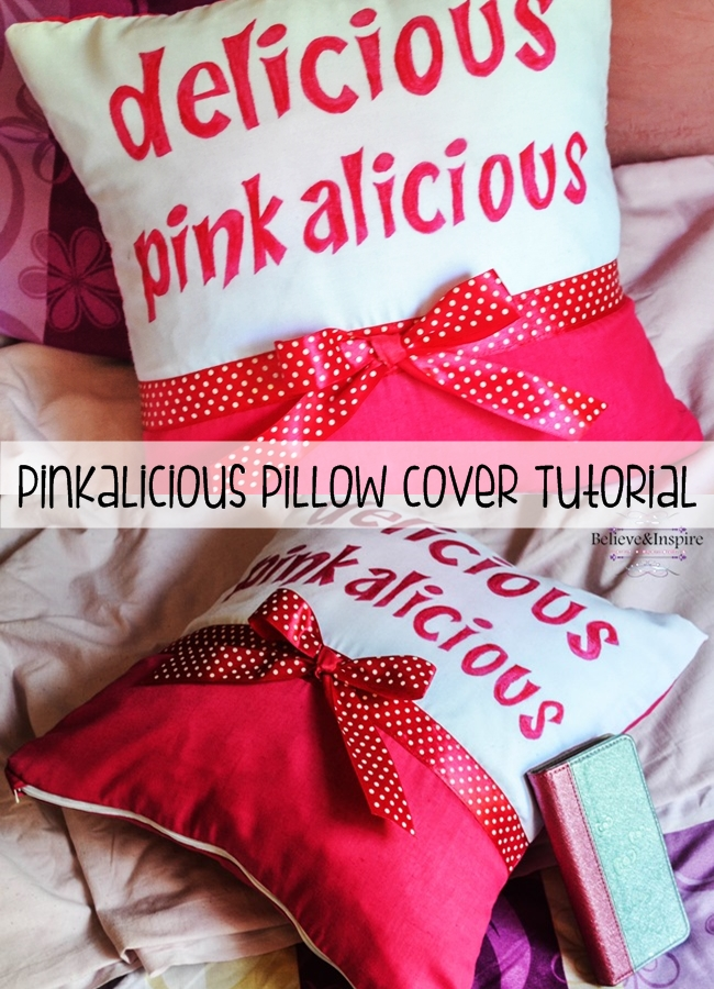 pinkalicious pillow tutorial
