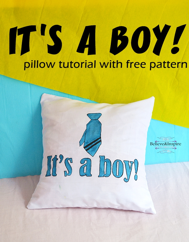 It's a Boy! Pillow Tutorial (Personalized Gifts)
