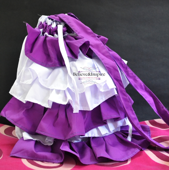 DIY Ruffled Drawstring Bags Tutorial