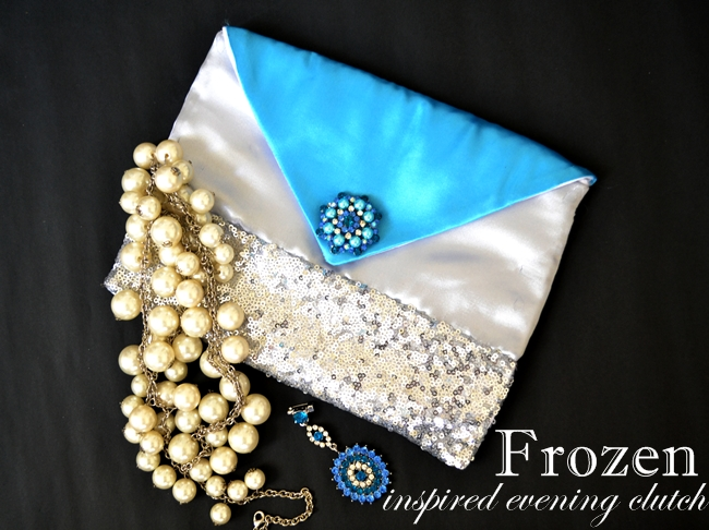 frozen inspired evening clutch