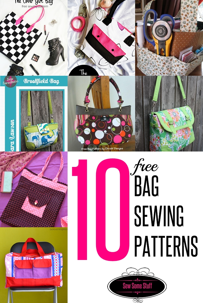 10 free bag sewing patterns on sewsomestuff.com