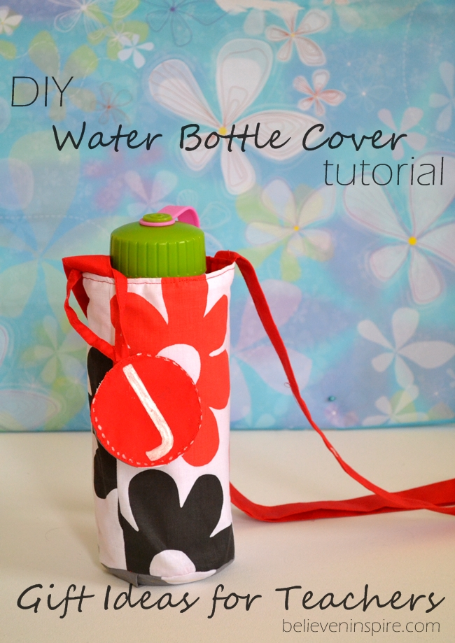 DIY water bottle cover - 10 Back to School Sewing Ideas with Free Patterns on believeninspire.com