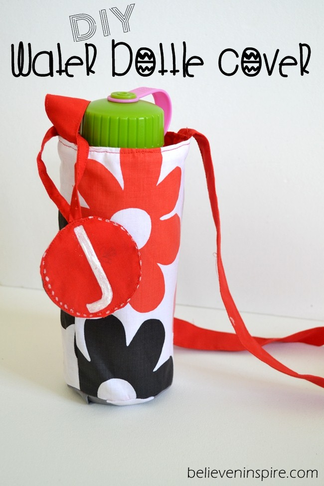 DIY Water Bottle Cover - Back to School Sewing Ideas (Easy Sewing Projects)