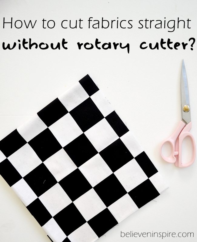 How to cut fabrics straight WITHOUT a rotary cutter. One great cutting tip and you would NEVER have a messy edge. This is my one FAVORITE tip to get perfectly straight edges ALL the time. FIND OUT HOW.