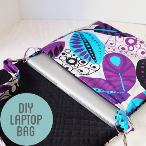 Laptop bag - 6 Must Sew Things for 21st Century Girl on believeninspire.com