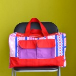 Duffle Bag from Pillow Cover (Free Sewing Pattern)