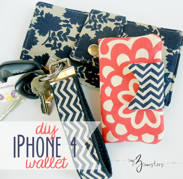 iPhone wallet - 6 Must Sew Things for 21st Century Girl (Free Sewing Patterns)