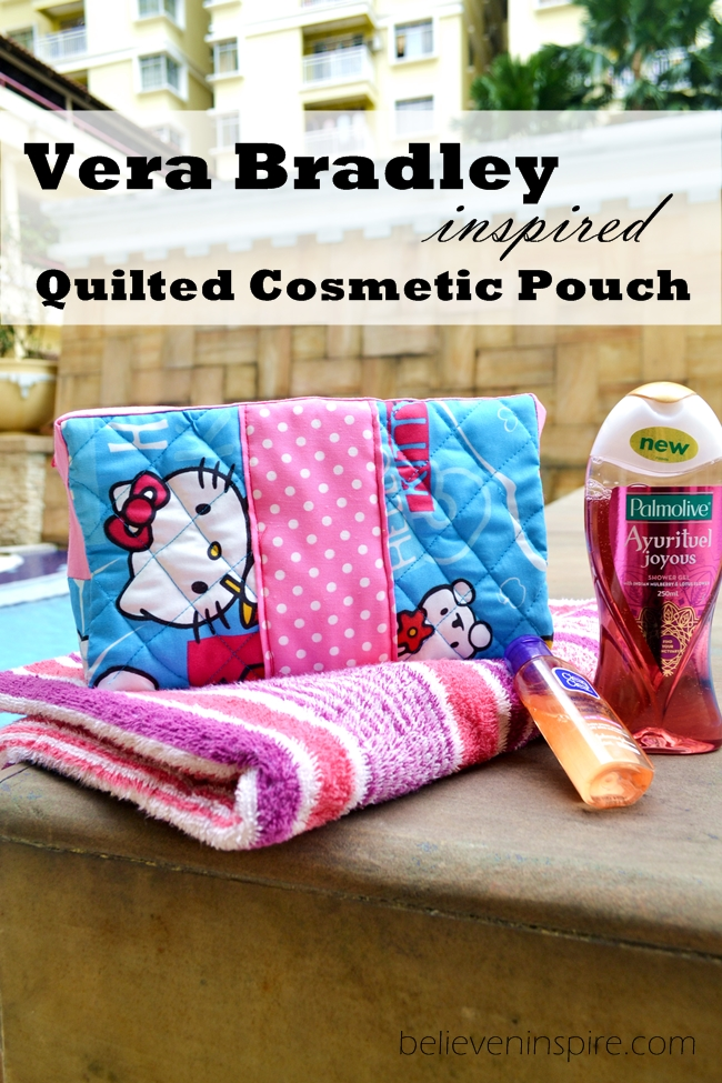 vera bradley inspired cosmetic bags
