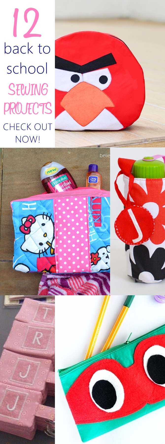 12 Back to School Sewing Ideas with Free Patterns on sewsomestuff.com School season is starting and it can get pretty pricey buying all the supplies. Here are some simple sewing projects that you can make for school and cut down the cost. Check them out now.
