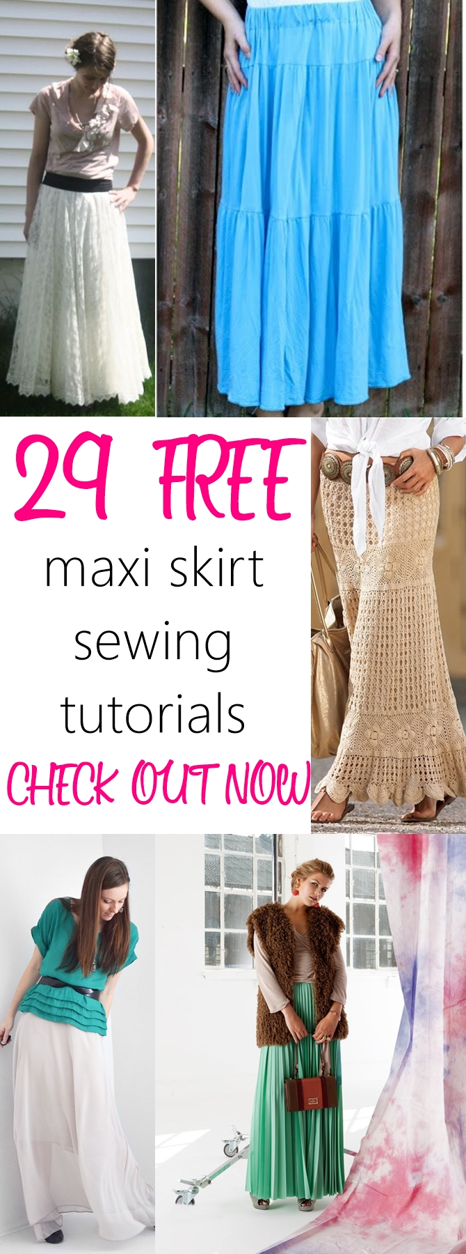 long skirt designs | how to make a skirt | skirt patterns free | how to make a maxi skirt | Maxi Skirts Free Sewing Patterns and Tutorials
