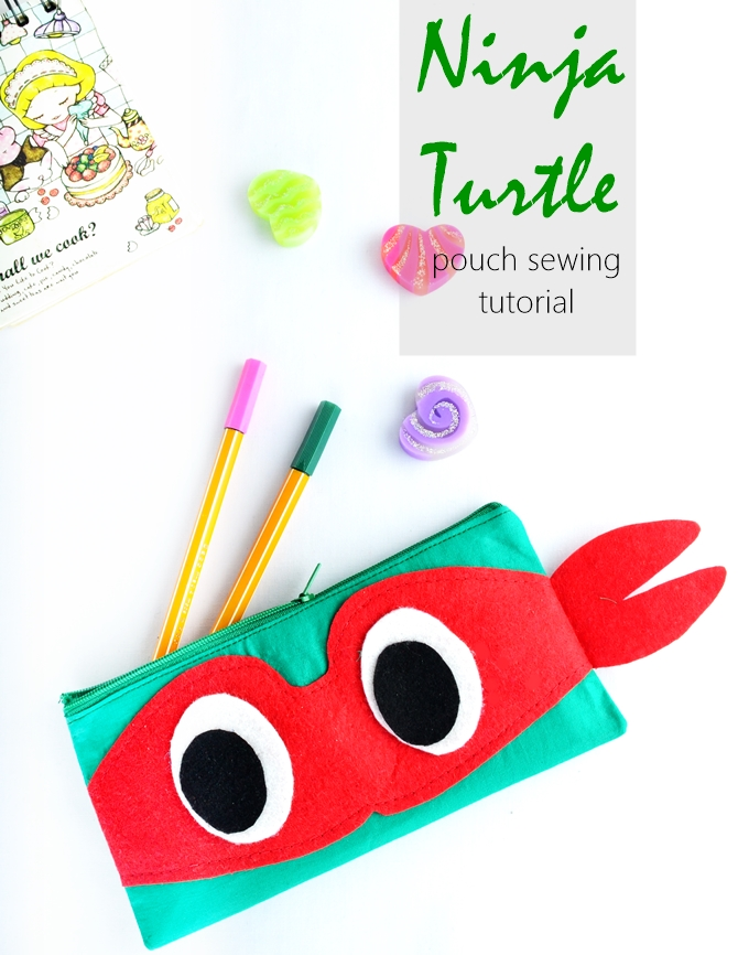 Ninja turtle pouch sewing tutorial
