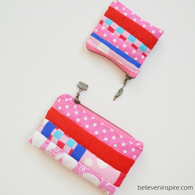 Quilted mini pouch sewing tutorial on Sew Some Stuff1