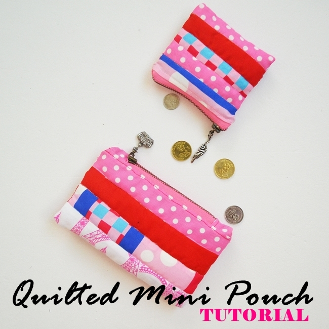 Quilted mini pouch sewing tutorial on Sew Some Stuff12