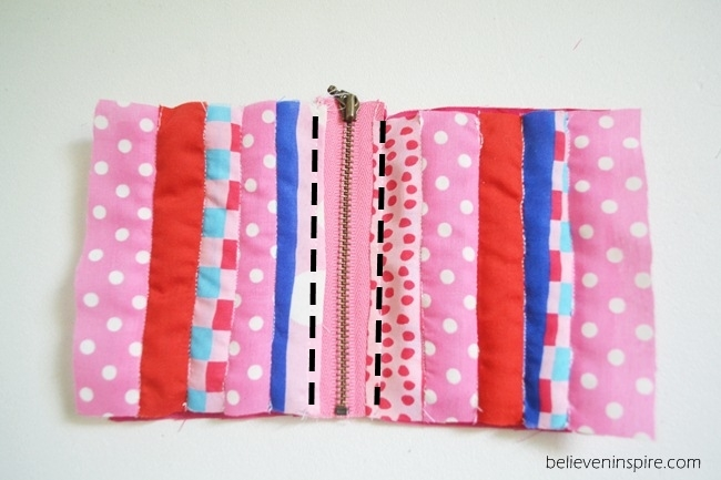 Quilted mini pouch sewing tutorial on Sew Some Stuff13