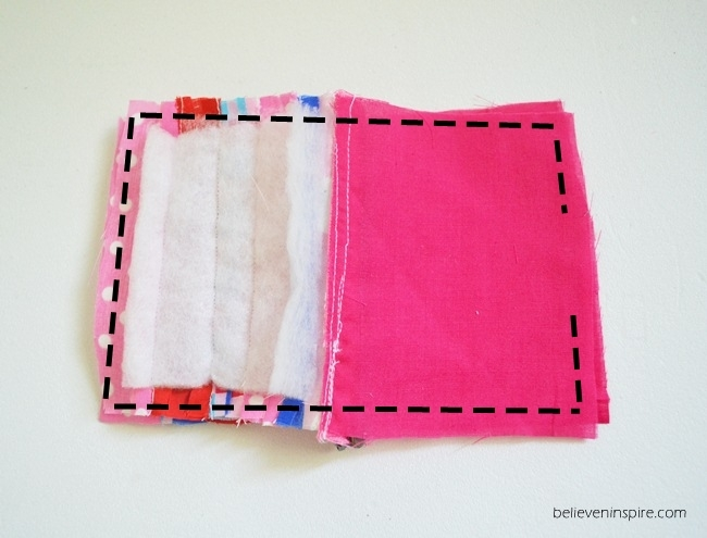 Quilted mini pouch sewing tutorial on Sew Some Stuff14