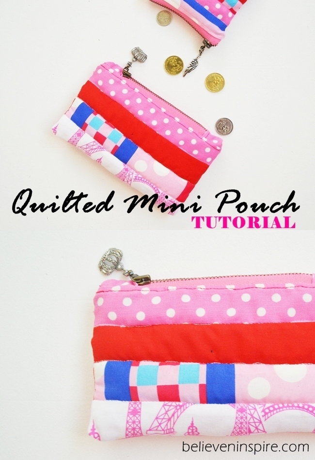 Quilted mini pouch sewing tutorial on Sew Some Stuff16