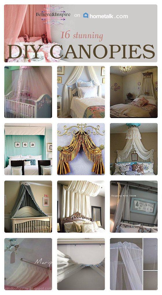 16 DIY Canopies To Make. Canopies add such a charming and cozy look to the room. But it doesn't mean you have to spend tonnes of dollars on them. In this round-up you can find 16 DIY canopies for affordable price. Check out now.