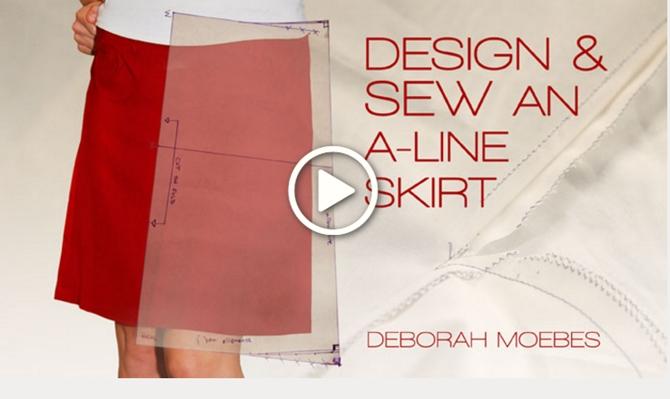 Design & Sew an A-Line Skirt online craftsy class