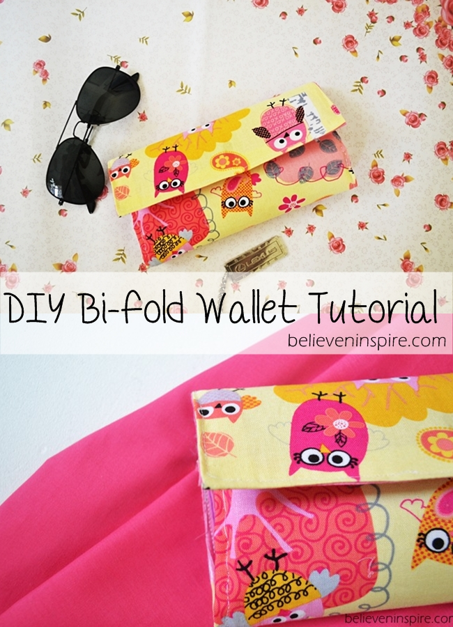 DIY Wallet Tutorial - Free Sewing Tutorial on believeninspire.com