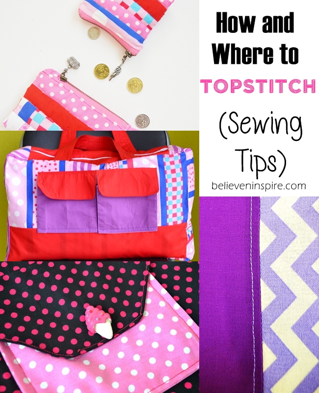 How to Top stitch (Sewing Tips for Beginners) on believeninspire.com