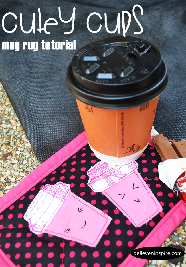 Cutey Cups Mug Rug Tutorial (Homemade Gifts)