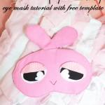 Miss Sleepy Bunny Sleeping Eye Mask Tutorial with FREE Template