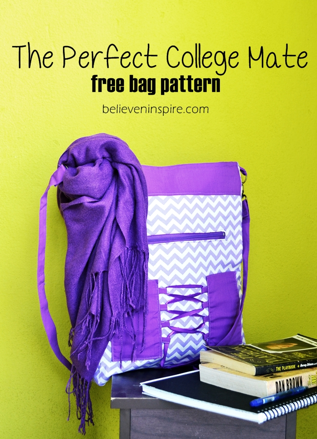 The Perfect College Mate (free bag pattern) on believeninspire.com