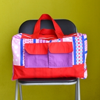duffle bag from pillow cover sewing tutorial