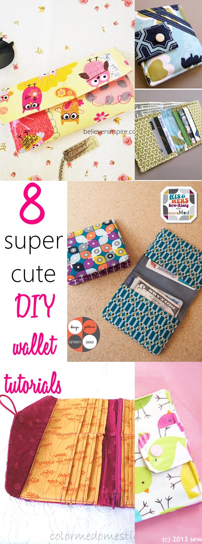 DIY wallet | wallet sewing pattern pdf | tri fold wallet pattern free | mens wallet pattern |