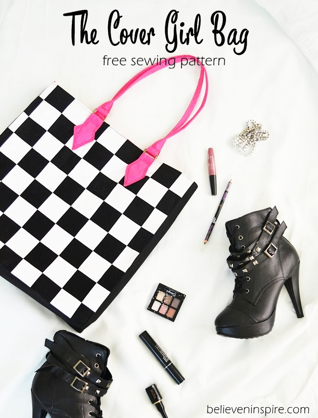 The Cover Girl Bag - FREE SEWING PATTERN (Custom Bags) on believeninspire.com