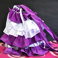 Ruffled bag sewing tutorial